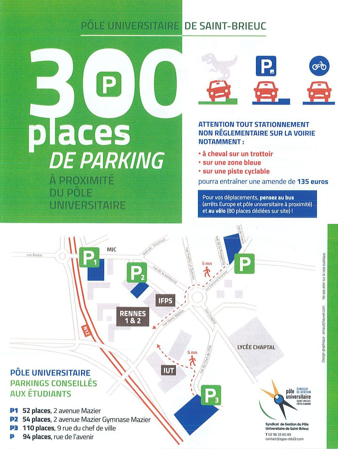 Stationnement IFPS St Brieuc